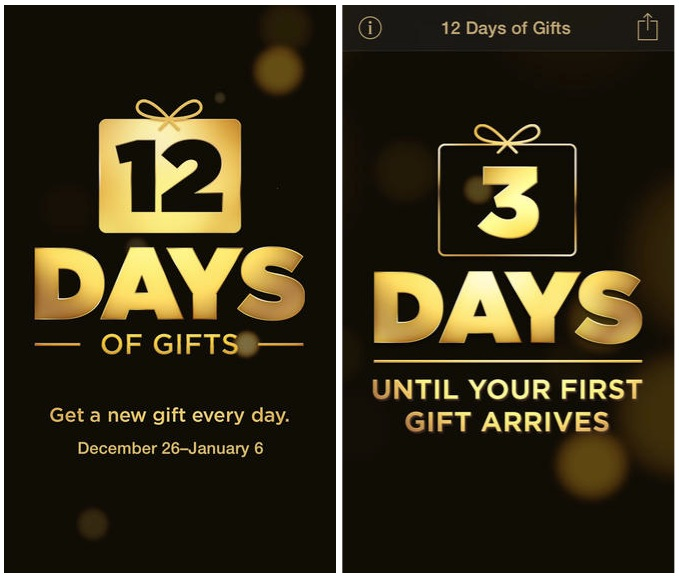 apple christmas gift app